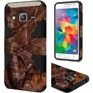Insten Brown/Black Camouflage Dynamic Hard PC/ Silicone Dual Layer Hybrid Case Cover For Samsung Galaxy Grand Prime