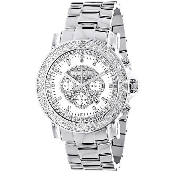 Luxurman Escalade Oversized Mens 1/4ct White Diamond Chronograph Watch