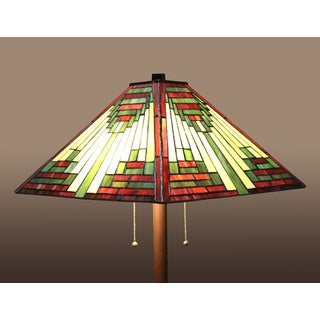 Zapanta 2-light Red Tiffany-style 25-inch Floor Lamp