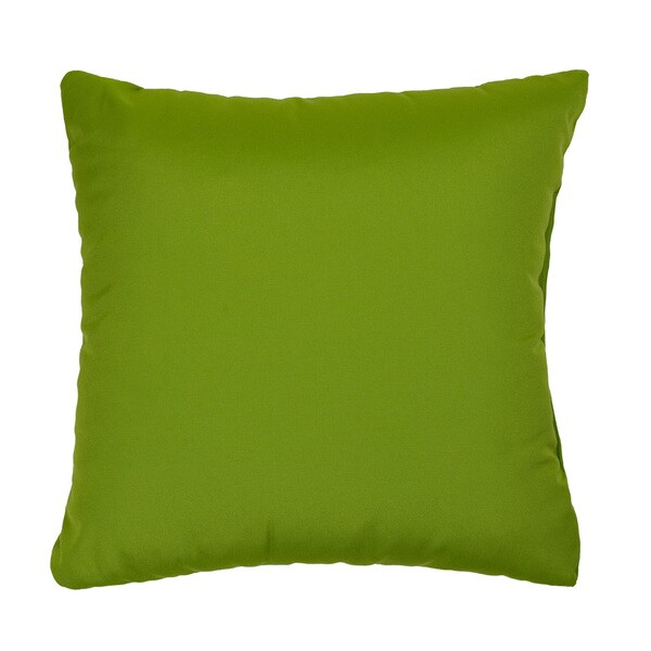 Citrus Green Indoor/ Outdoor Square Throw Pillows (Set of 2)