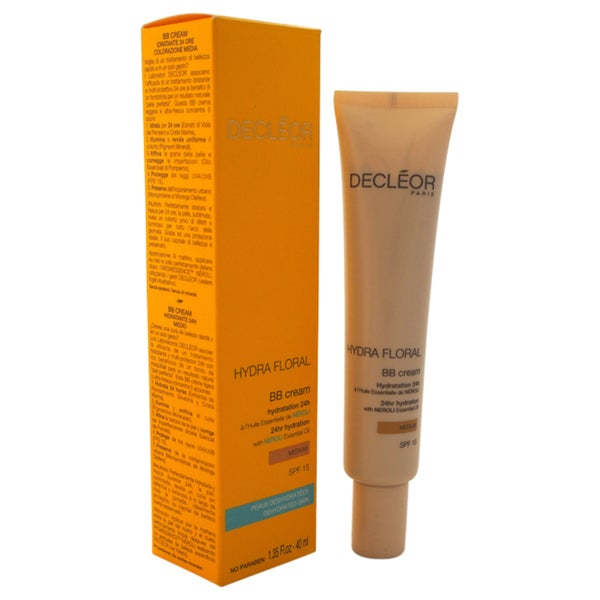 Decleor Hydra Floral BB Cream 24hr Hydration SPF 15 Medium 1.35-ounce Cream