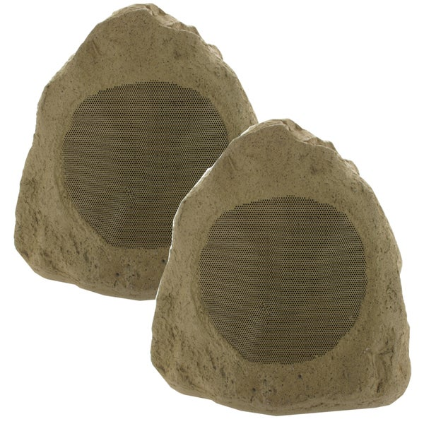 Theater Solutions 2R6S Outdoor Garden Waterproof Sandstone 6.5-inch 800-watt Rock Speaker (Pair