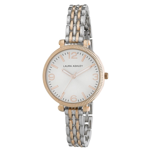 Laura Ashley Ladies Two-tone Link Bracelet Watch