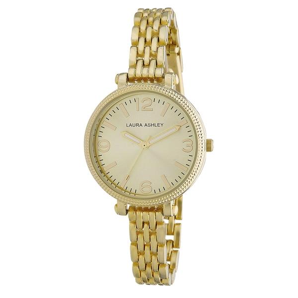 Laura Ashley Ladies Goldtone Link Bracelet Watch