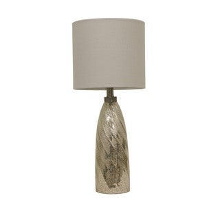 Silver Mercury Swirl Taper Table Lamp