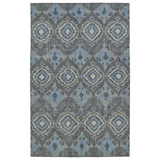 Hand-Knotted Vintage Charcoal Boho Rug (5'6 x 8'6)