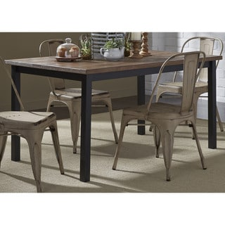 Weathered Grey Metal and Pine Vintage 36x60 Dinette Table