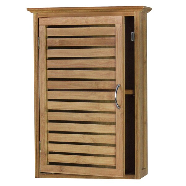 gallerie decor natural spa bamboo wall cabinet 17967206 overstock