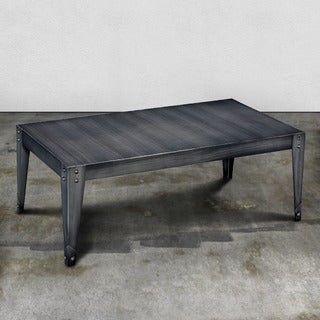Furniture of America Taymen Industrial Weathered Black Metal Coffee Table