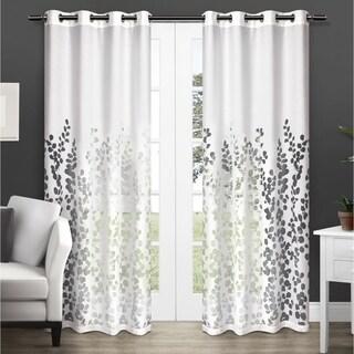 "Wilshire Burnout 84"" Sheer Grommet Top Curtain Panel Pair"