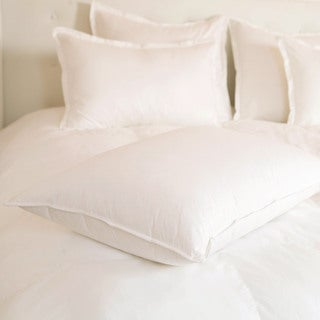 Luxury Resort Style 25/75 White Goose Down abd Feather Blend Pillow