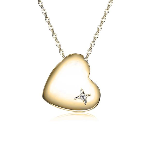 Collette Z Gold Plated Sterling Silver Heart of Grace Pendant