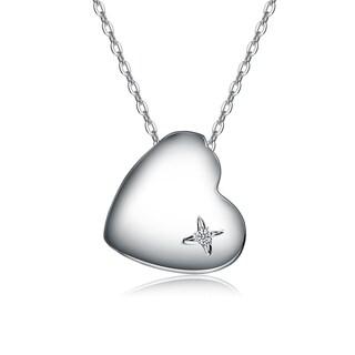 Collette Z Sterling Silver Heart of Grace Pendant