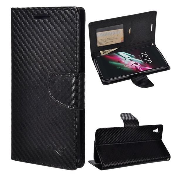 Insten Black Camouflage Leather Case Cover with Stand/Wallet Flap Pouch/Photo Display For Alcatel One Touch Idol 3 (5.5)