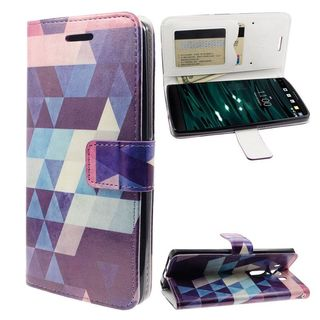 Insten Purple/White Puzzle Leather Case Cover with Stand/Wallet Flap Pouch For LG V10