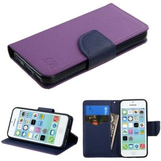 Insten Leather Case Cover with Stand/Wallet Flap Pouch For Apple iPhone 5C