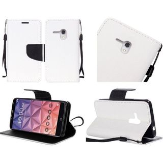 Insten Leather Case Cover Lanyard with Stand For Alcatel One Touch Fierce XL