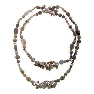 Sterling Silver Labradorite Bead Convertible Necklace