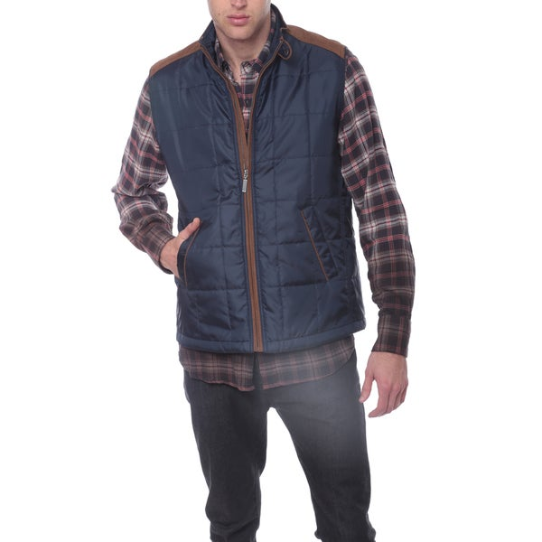 Men's Quilted Faux Suede Vest