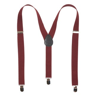 Vance Co. Men's Solid Adjustable Suspenders