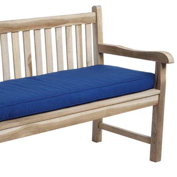 Cobalt Blue Indoor/ Outdoor Corded Bench Cushion