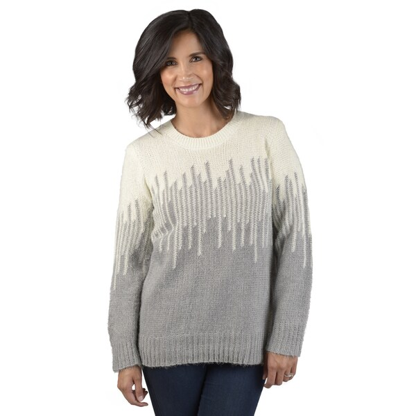 Journee Collection Women's Knit Crew Neck Sweater