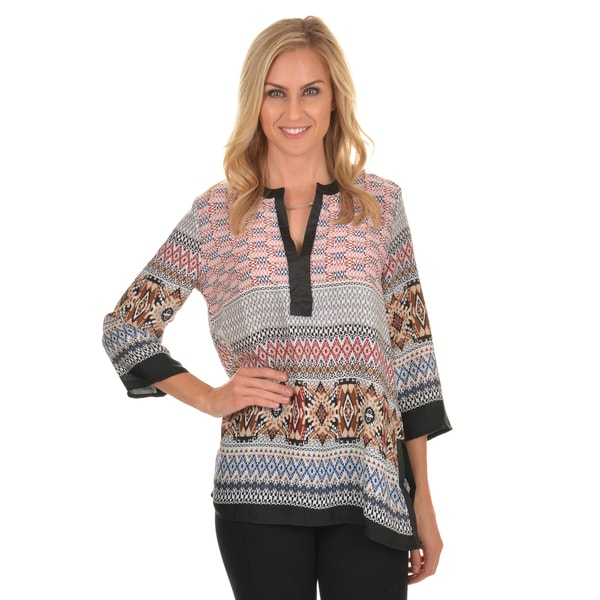 Journee Collection Women's Printed Woven Top