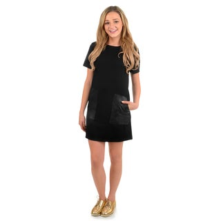 Journee Collection Women's Short-sleeve Pocketed Tunic Dress