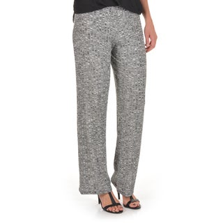 Journee Collection Women's Ribbed Knit Wide Leg Pants