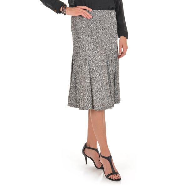 Journee Collection Women's Panel Ribbed Skirt