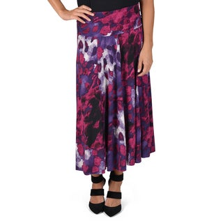 Journee Collection Women's Panel Fold-over Skirt