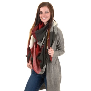 Journee Collection Women's Fringed Colorblocked Blanket Scarf