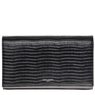 Saint Laurent Lizard Leather Shoulder Clutch