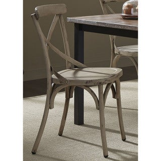Heavy Distressed Metal X-Back Side Chair