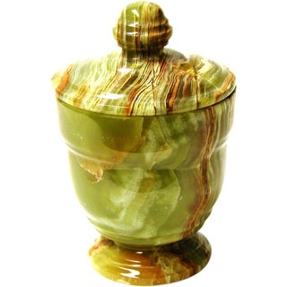 Nature Home Décor Classic Green Onyx Canister of Tasmanian Collection