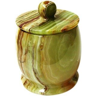 Pacific Collection Multi Green Onyx Canister