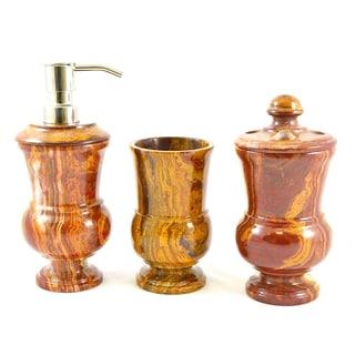 Nature Home Decor 3-Piece Bathroom Accessory Set of Mediterranean Collection.