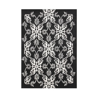 Alliyah Hand Made Floridly Off-White New Zealand Wool Blend Rug 8 feet x 10 feet
