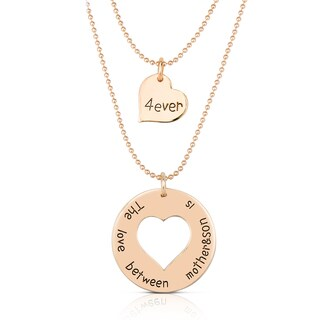 Collette Z Gold Overlay Dual Mother Son Pendant Necklace