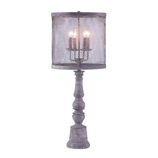 Bombay Sutton Candelabrum Charcoal Buffet Lamp