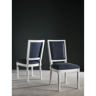 Safavieh Buchanan Navy Rect Side Chairs (Set of 2)