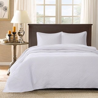 Madison Park Adelle White Bedspread Set