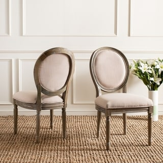 Safavieh Holloway Beige Oval Side Chairs (Set of 2)