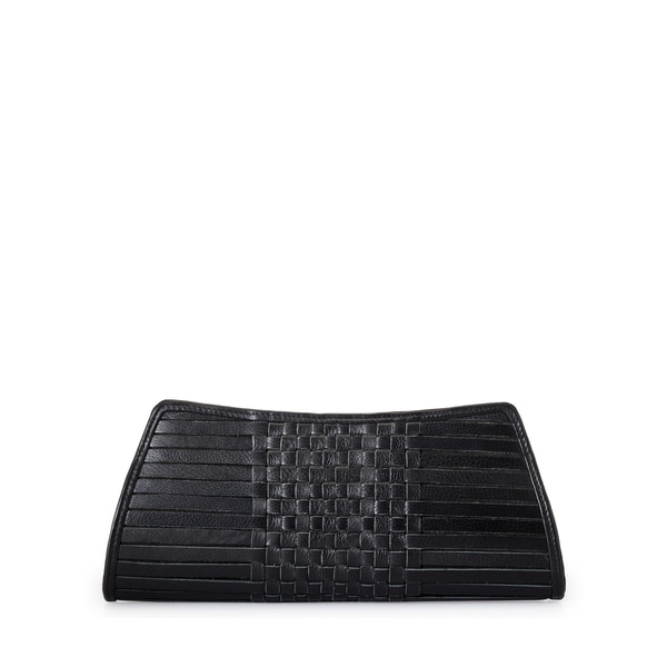 Jasbir Gill Black Leather Clutch