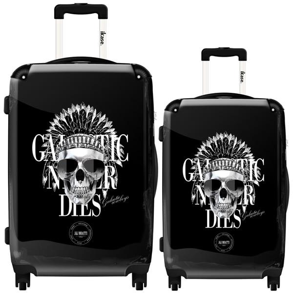 iKase Skull Galatic 2-piece Hardside Spinner Luggage Set