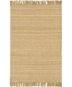 Hand-woven Natural Fiber Jute Rug (4' x 5'9)
