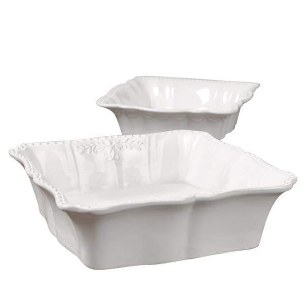 Gallery Le Provence 2-pc. Square Baking Dish Set (White)