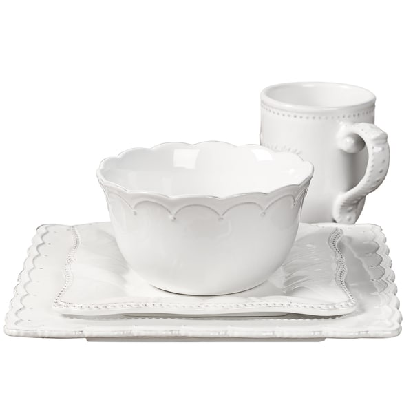 Gallery Le Provence 4-pc. Square Place Setting (White)