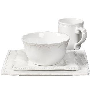Le Provence-4 Piece Stoneware Square Dinnerware Service for One