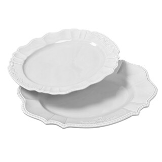 Le Provence-Set of Two Ceramic Serving Platters
